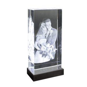 2D-3D-Glasblock_200x100x50_Hochzeit_mit-LED-Sockel