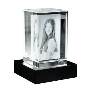 Glasblock 2 D hochkant mit Sockel